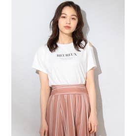 【洗える】マーガレットロゴ Tシャツ (アイボリー系)