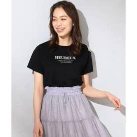 【洗える】マーガレットロゴ Tシャツ (ブラック系)