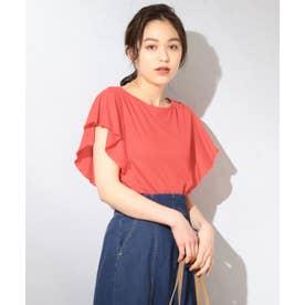 【接触冷感】クールビューティーフリル Tシャツ (レッド系)