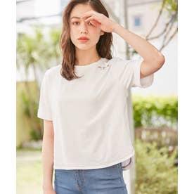 【洗える】Flower Language Tシャツ (アイボリー系)