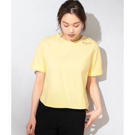 【洗える】Flower Language Tシャツ (ライトイエロー系)