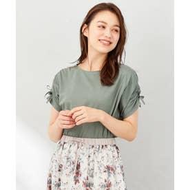 【抗菌防臭】リボンブラウジング Tシャツ ([新色]オリーブ系)