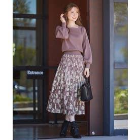 【美人百花コラボ】フラワージャガードスカートセットアップ (ライラック系3)
