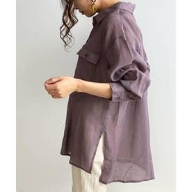 シアーBIGシャツ (ラベンダー)