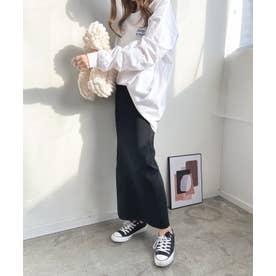 スーパーストレッチニットタイトスカート (ブラック)