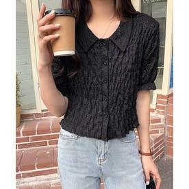 シャーリングコンパクトシャツ (ブラック)