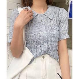 シャーリングコンパクトシャツ (ブルー)
