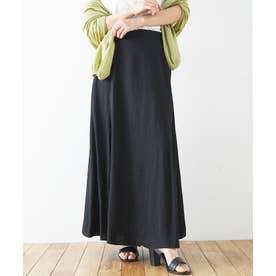 楊柳パイピングマーメイドスカート (ブラック)