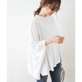 ポンチョワイドBIG-Tシャツ (ホワイト)