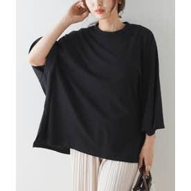 ポンチョワイドBIG-Tシャツ (ブラック)