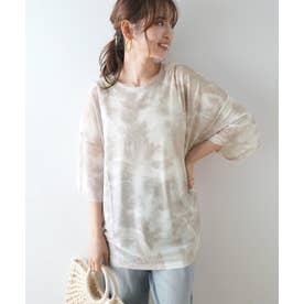 シアーメッシュタイダイBIGTシャツ (グレー系その他)