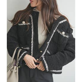 パイピングボアジャケット (ブラック)
