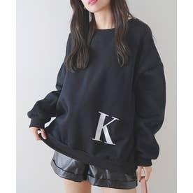 [前後2way]イニシャル刺繍BIGロゴプルオーバー (K)
