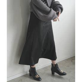 マシュマロタッチマーメイドロングスカート (ブラック)