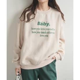 [baby]ぷっくりロゴトレーナー (ライトベージュ)