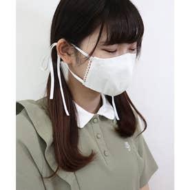 ケース付きミニブーケ刺繍マスク 【返品不可商品】 (OFFWHITE)