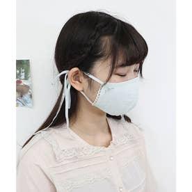 ケース付きミニブーケ刺繍マスク 【返品不可商品】 (MINT)