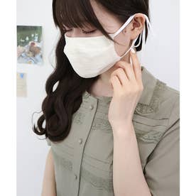 ケース付きストライプレースマスク 【返品不可商品】 (IVORY)