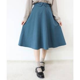 ローズカットワークフレアースカート (BLUE GREEN)