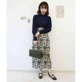 ゴブランロングタイトスカート (BLUE)