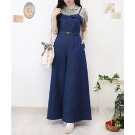 デニムジャンパースーツ (BLUE)