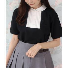 ヨーク切替ポロシャツ (BLACK×WH)