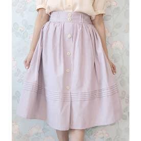 裾ピンタックギャザースカート (LAVENDER)