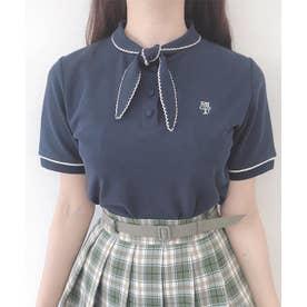 タイ付きポロシャツ (NAVY)