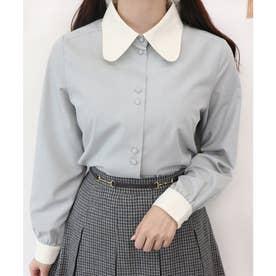 ラビットカラーシャツ (L/BLUE×WH)