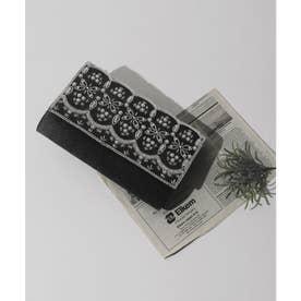 ビーズxパール刺繍3wayクラッチバッグ (ブラック)
