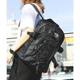男女兼用A4サイズOKウエストベルトバックパックリュックサック (ブラック)