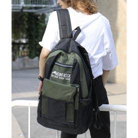 大容量6ポケットバックパック a3a4収納可能 (カーキ)