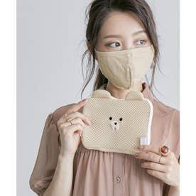 スフレアニマルポーチ付き洗えるマスク 【返品不可商品】(シロクマ)