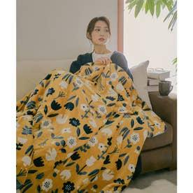[140×180cm]アニマルラージブランケット毛布 (フラワーバード)