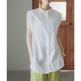 ピンタックドレスシャツ (オフホワイト)