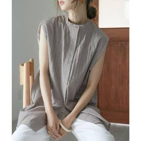 ピンタックドレスシャツ (モカブラウン)