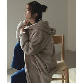 あったかボア着る毛布ロングコートルームウェア (モカ)