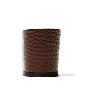 Calinan 6cmブロックヒール(クロコ型押しブラウン) (ブラウン)