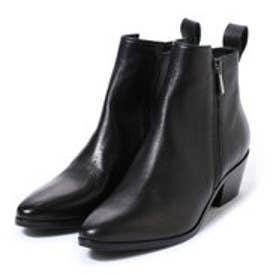 ●サイドジップショートブーツ (ブラック)