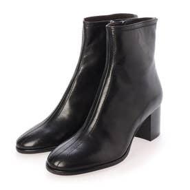 ステッチショートブーツ (ブラック)