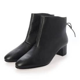 バックリボンショートブーツ (ブラック)