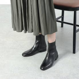 スムースレザーモカブーツ (ブラック)