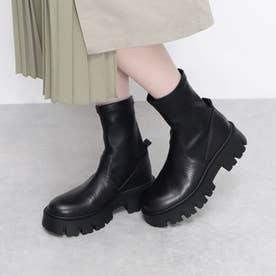 プレーントゥショーツブーツ (ブラック)