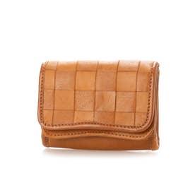 fes/カウレザー メッシュ 折財布