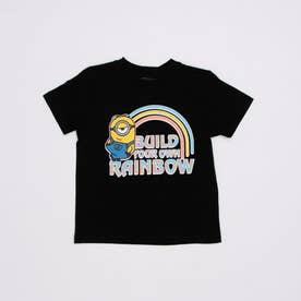 ジュニア 半袖Tシャツ ミニオンズ KIDS レインボーTシャツ 22853209 (ブラック)