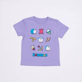 ジュニア 半袖Tシャツ ドラえもん KIDS アイテム整列Tシャツ 22853202 (パープル)