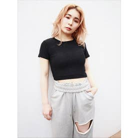 ラメショートTシャツ (BLK)