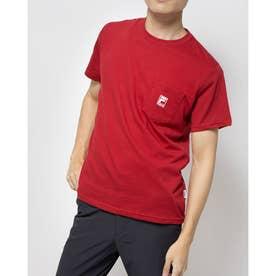 ポケ付きTシャツ (レッド)