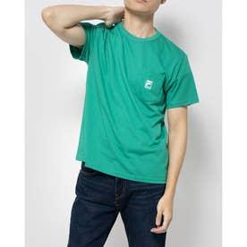ポケ付きTシャツ (グリーン)