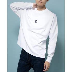 切替プリントロングTシャツ (ホワイト)